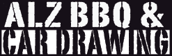 ALZBBQ and Car Drawing Logo